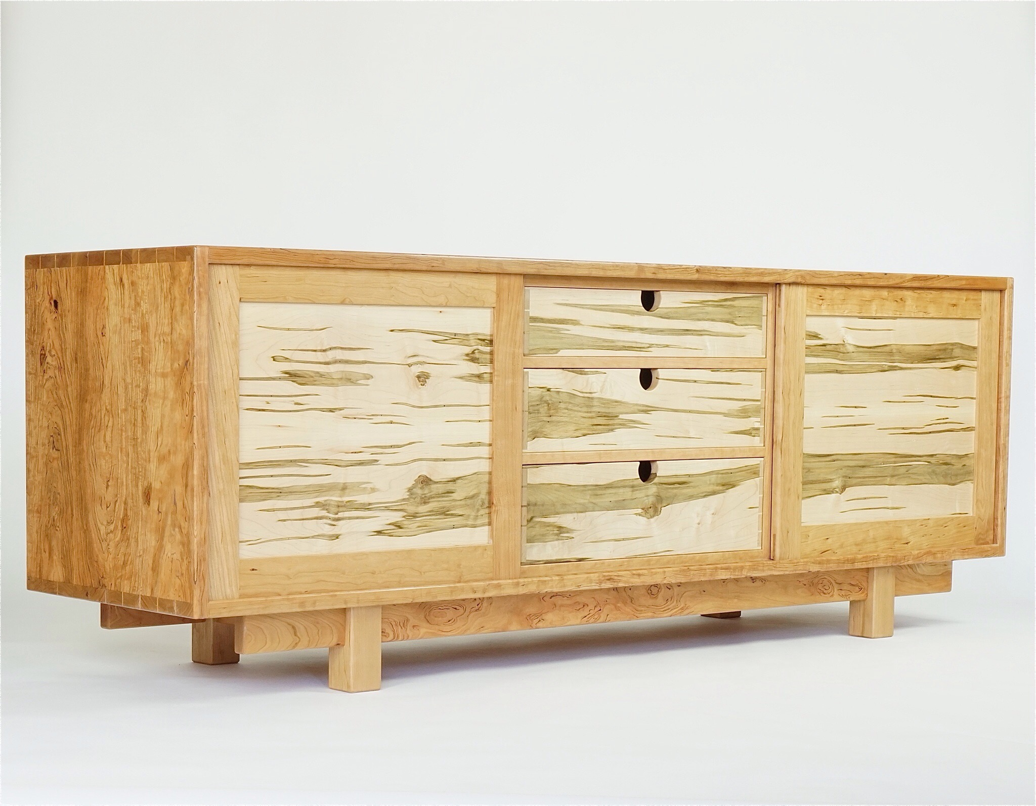 Side board/media counsel in cherry and ambrosia maple-84